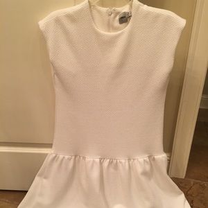 ASOS white babydoll high low dress size 2